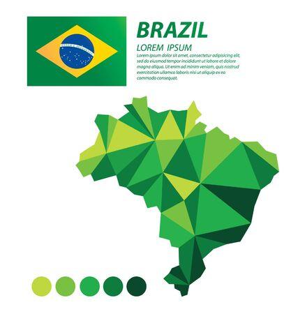 Brazil geometric concept design vector