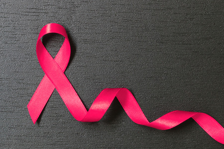 healthcare and medicine concept. pink cancer awareness ribbon.