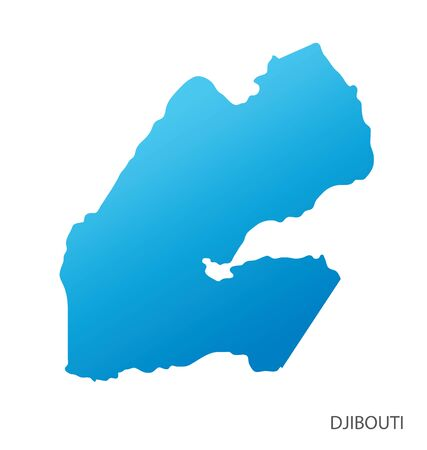 Map of Djibouti vector 일러스트