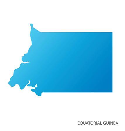 Map of Equatorial Guinea vector 일러스트