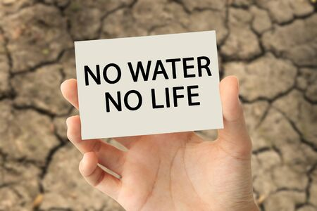 Save water concept Stock Photo