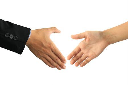 handshaking isolated on white background