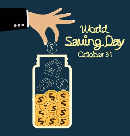 World savings day. vector illustration.