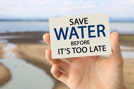 Save water concept Фото со стока