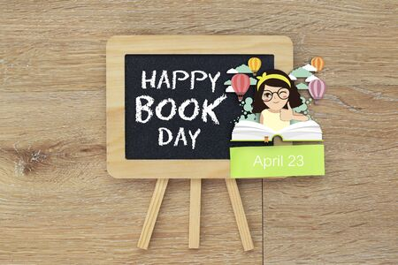 Happy Book Day 스톡 콘텐츠