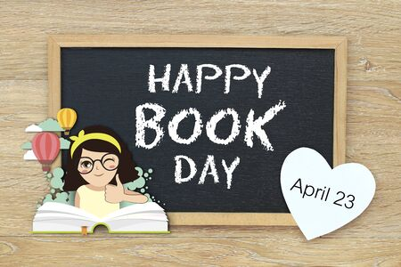 Happy Book Day illustration Stok Fotoğraf