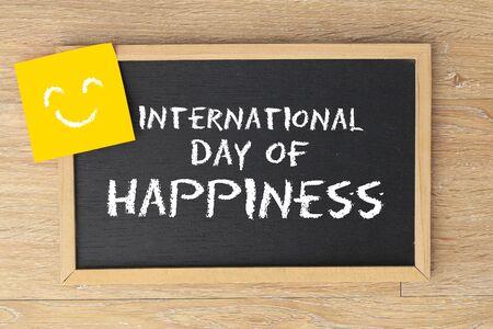 International Day of Happiness Zdjęcie Seryjne