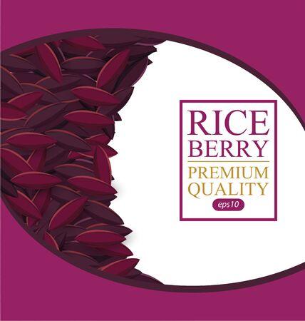 Rice berry illustration.