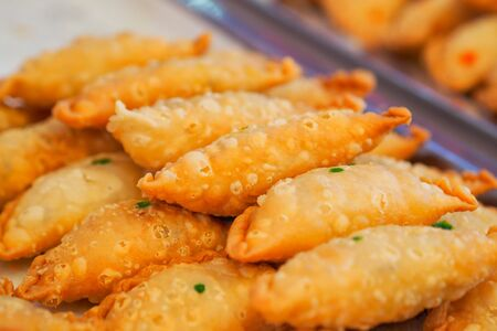 Close up of curry puff