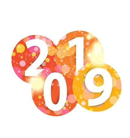 Happy new year 2019 Иллюстрация