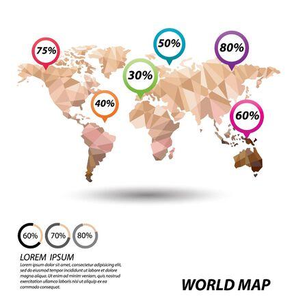 World Map geometric concept design Illusztráció