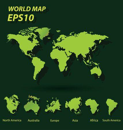 World Map vector Illustration Illusztráció