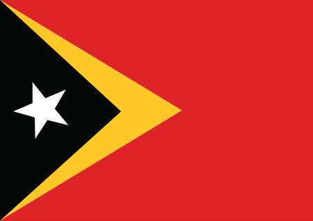 Flag of East Timor vector illustration