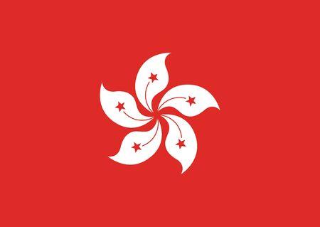 Flag of Hong Kong vector illustration Иллюстрация