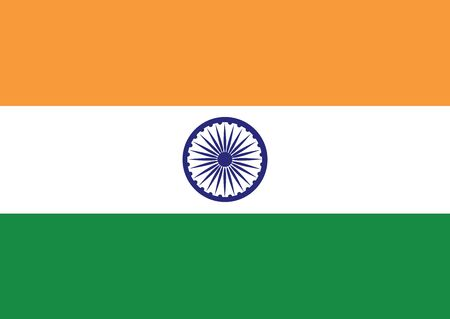 Flag of India vector illustration