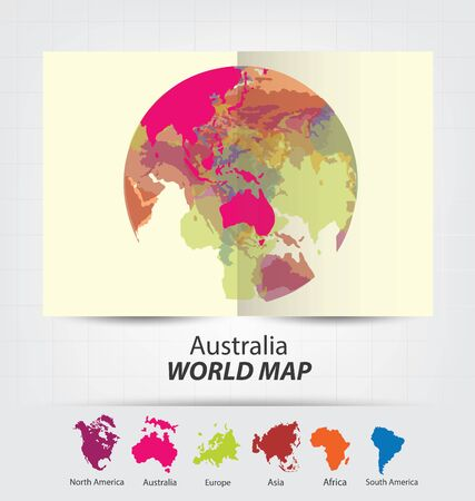 World Map vector Illustration. Illusztráció