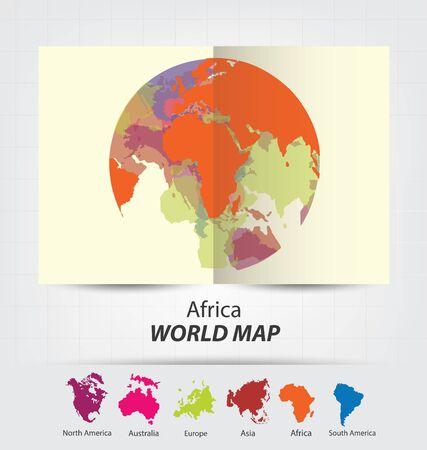 World Map vector Illustration. Illusztráció