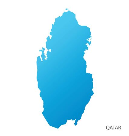 Map of Qatar vector