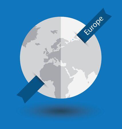Modern globe vector illustration