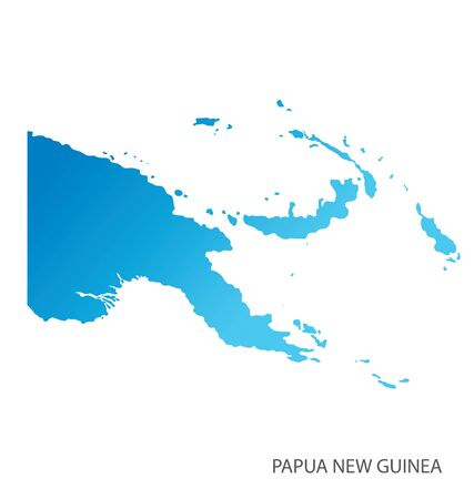Map of Papua New Guinea vector Vector Illustration