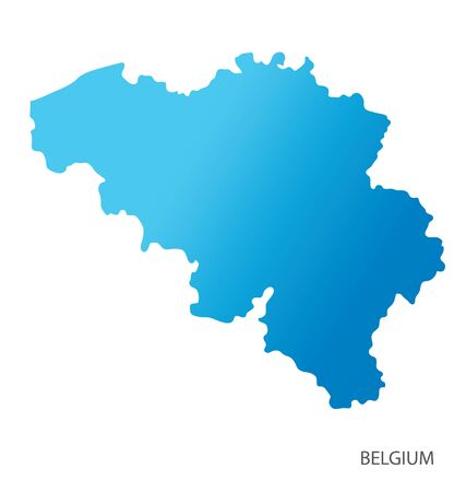 Map of Belgium vector