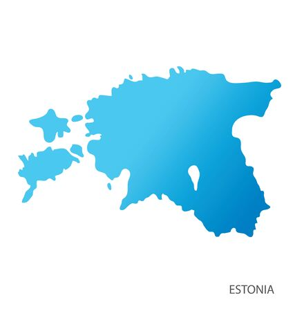 Map of Estonia vector