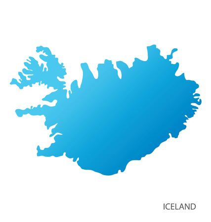 Map of Iceland vector