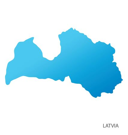 Map of Latvia vector Vectores
