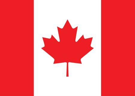 Flagge von Kanada-Vektor-illustration