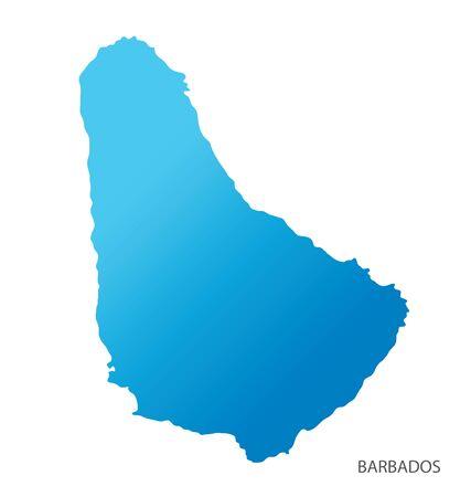 Carte du vecteur de la Barbade Vecteurs
