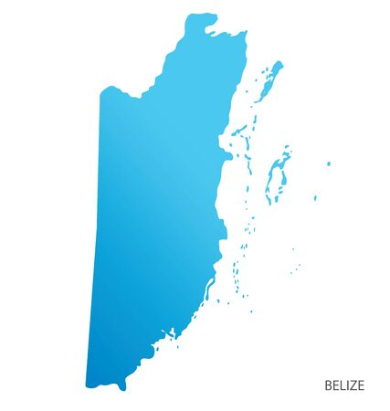 Map of Belize vector