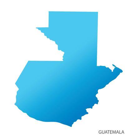 Map of Guatemala vector