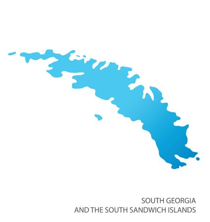 Map of South Georgia and the South Sandwich Islands vector  イラスト・ベクター素材