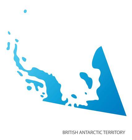Map of British Antarctic Territory vector