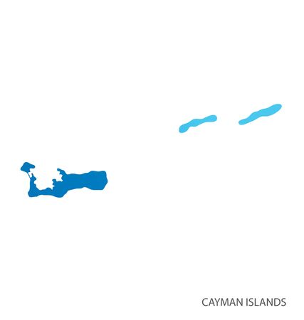 Map of Cayman Islands vector