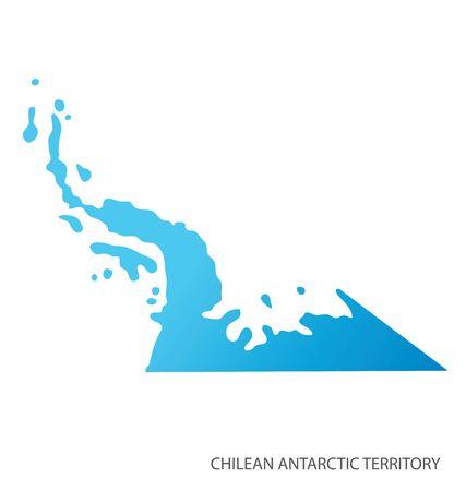 Map of Chilean Antarctic Territory vector