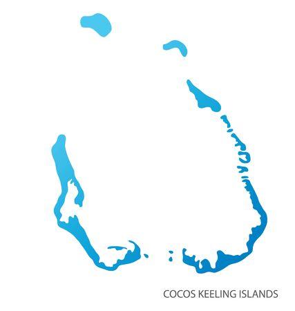 Map of Cocos Keeling Islands vector