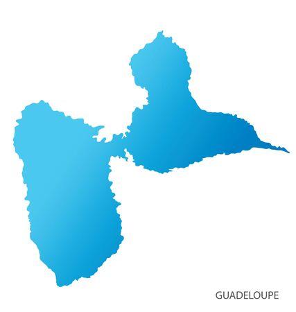 Carte de la Guadeloupe vecteur Vecteurs