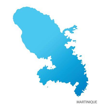 Map of Martinique vector Vetores