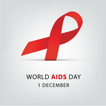 Aids Awareness. World Aids Day concept. Vector illustration. 矢量图像