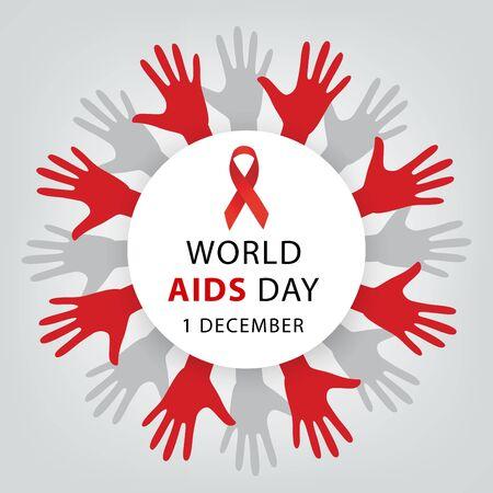 Aids Awareness. World Aids Day concept. Vector illustration. Vecteurs