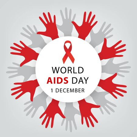 Aids Awareness. World Aids Day concept. Vector illustration. Vector Illustration