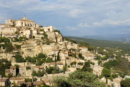 gordes: The beautiful city of Gordes in the South of France