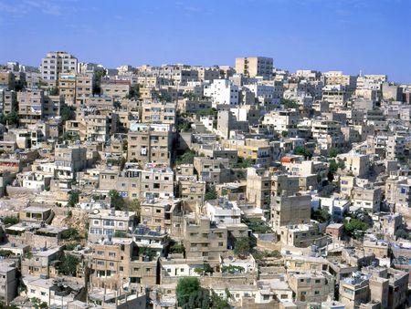 Amman, gezien vanuit de Citadel, Jordanië