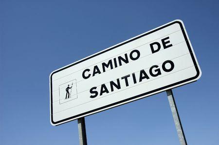 Meld u op de pelgrimsweg naar Santiago de Compostela in Spanje