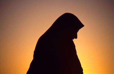 Arab woman wearing a headscarf Stockfoto