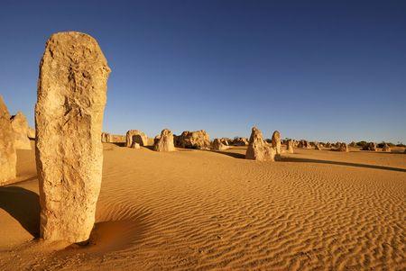 Pinakels woestijn in West-Australië Stockfoto