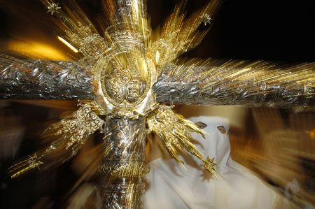 procession: Procesi�n durante la Semana Santa en Espa�a (esta es la Semana Santa antes de Semana Santa)