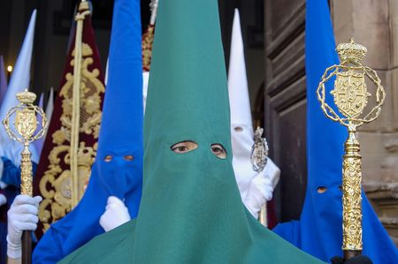 Procession during the Semana Santa in Spain(this is the Holy week before Easter)