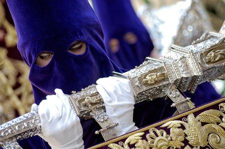 Processie tijdens de Semana Santa in Spanje (dit is de Heilige week voor Pasen)